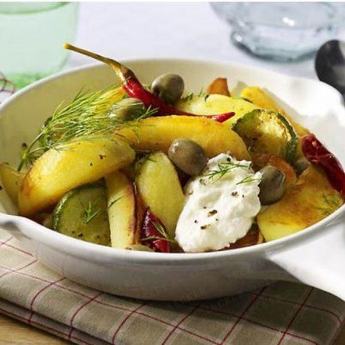 Kartoffel Gurken Pfanne